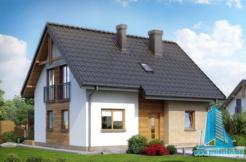 Proiect de casa cu mansarda din lemn