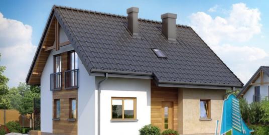 Проект жилого деревяного дома с  мансардой-100555