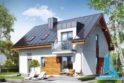 proiect de casa cu garaj si mansarda
