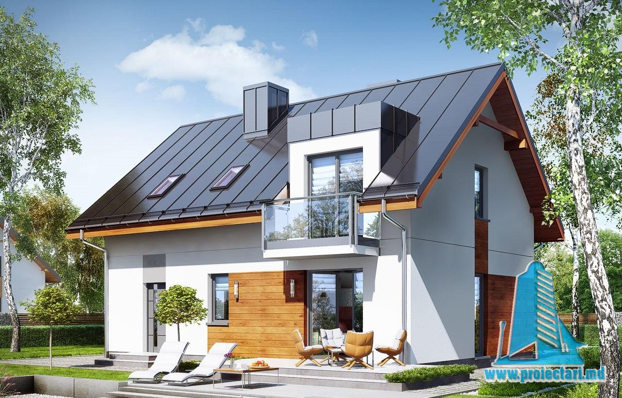 Casa cu mansarda, garaj,terasa de vara si logie