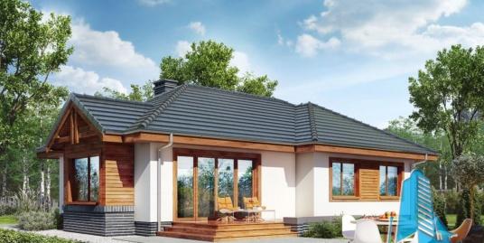 Проект жилого дома с партером и летней террасой – 100547