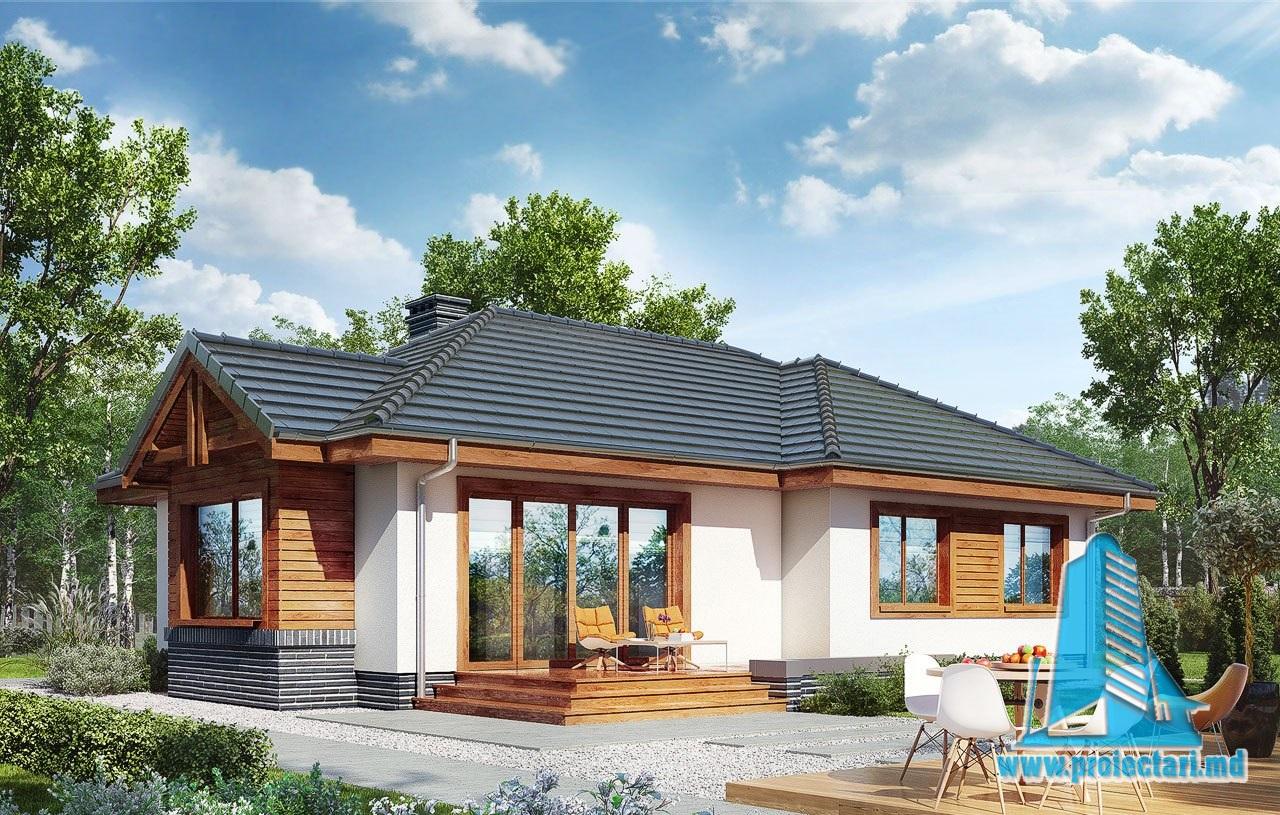 Proiect de casa cu parter si terasa de Vara 100547