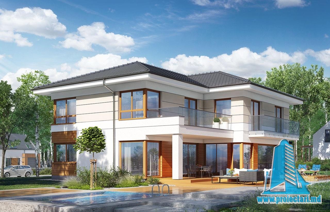 Casa cu parter etaj si garaj pentru doua automobile for Case cu etaj