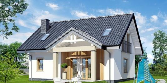 Проект жилого дома с  мансардой -100584
