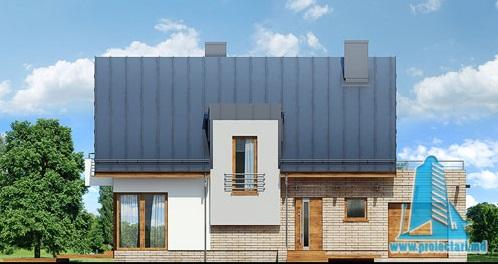 casa cu parte mansarda, garaj fatada-1