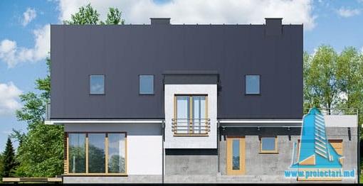 casa cu parte mansarda, garaj, fatada-1