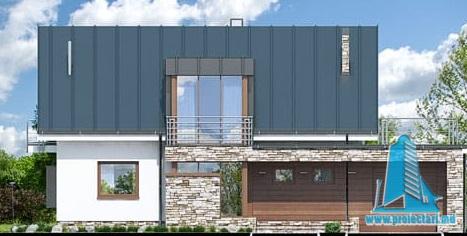 proiect-de-casa-cu-mansarda-si-garaj-pentru-un-automobil2 fatada-1