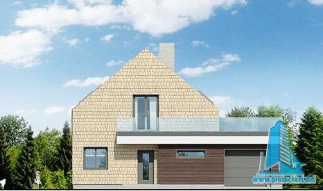 proiect-de-casa-cu-etaj-si-garaj-pentru-un-automobil fatada-1