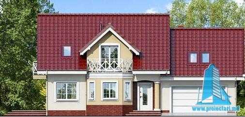 proiect-de-casa-cu-mansarda-si-garaj-pentru-doua-automobile fatada-1