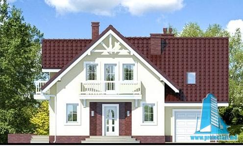 proiect-de-casa-cu-parter-mansarda-si-garaj-pentru-un-automobil fatada-1