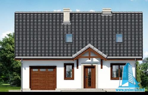fatada-1 Проект жилого дома с партером, мансардой и гаражом для одного автомобиля