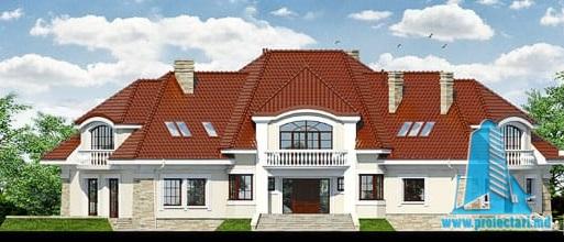 fatada-1 Проект жилого дома/особняк с партером, полуподвал и мансардой