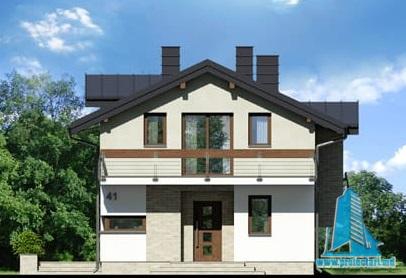 fatada-1 Проект двухэтажного жилого дома -100622