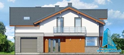 fatada-1 Проект двухэтажного жилого дома с гаражом для одного автомобил