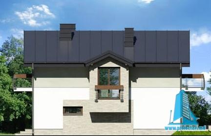 fatada-2 Проект двухэтажного жилого дома -100622