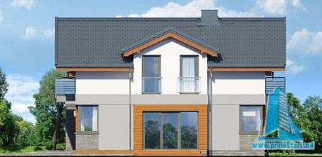 fatada-2 Проект двухэтажного жилого дома с гаражом для одного автомобил
