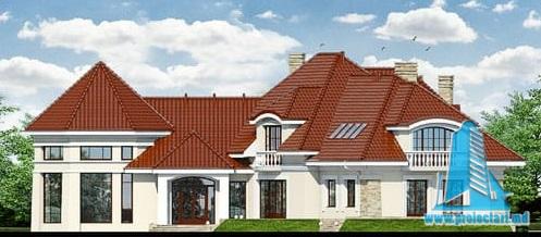 fatada-3 Проект жилого дома/особняк с партером, полуподвал и мансардой
