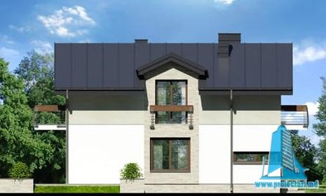 fatada-3 Проект двухэтажного жилого дома -100622