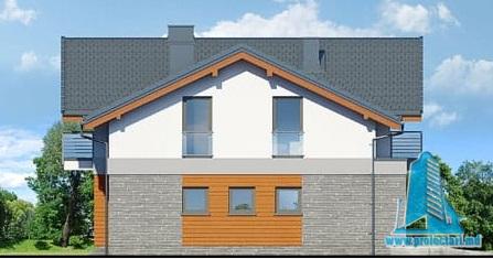 fatada-3 Проект двухэтажного жилого дома с гаражом для одного автомобил