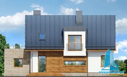 casa cu parte mansarda, garaj fatada-4
