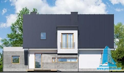 casa cu parte mansarda, garaj, fatada-4