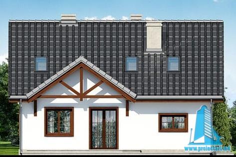 fatada-4 Проект жилого дома с партером, мансардой и гаражом для одного автомобиля