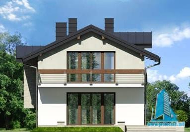 fatada-4 Проект двухэтажного жилого дома -100622