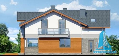 fatada-4 Проект двухэтажного жилого дома с гаражом для одного автомобил