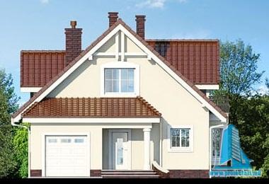 proiect-de-casa-cu-parter-mansarda-si-garaj-pentru-un-automobil fatada
