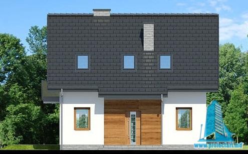 fatada1 Proiect de casa cu parter, mansarda