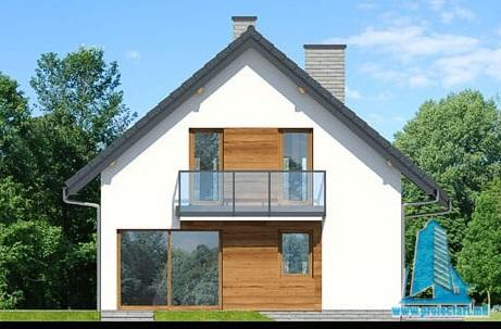 fatada2 Proiect de casa cu parter, mansarda
