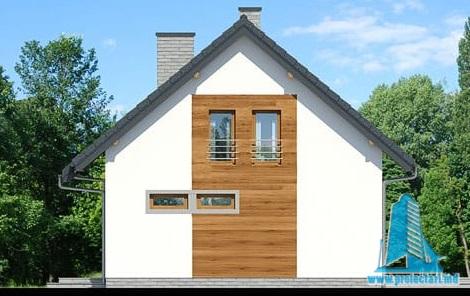 fatada3 Proiect de casa cu parter, mansarda