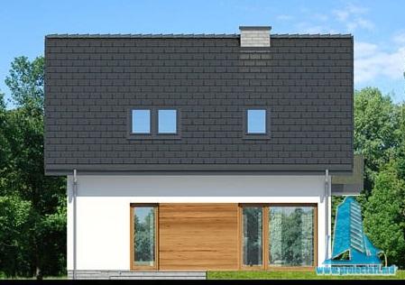 fatada4 Proiect de casa cu parter, mansarda