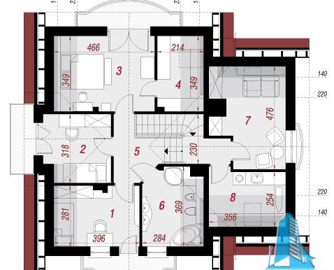proiect-de-casa-cu-parter-mansarda-si-garaj-pentru-un-automobil mansarda