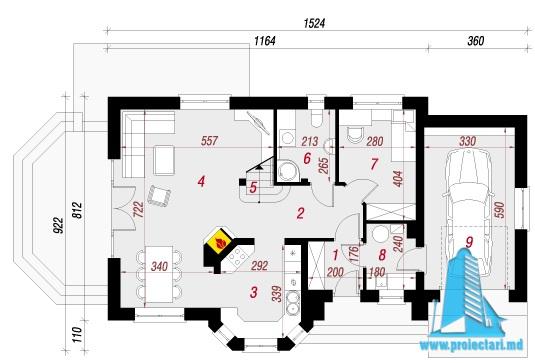 proiect-de-casa-cu-parter-mansarda-si-garaj-pentru-un-automobil parter
