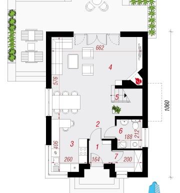 parter Проект двухэтажного жилого дома -100622