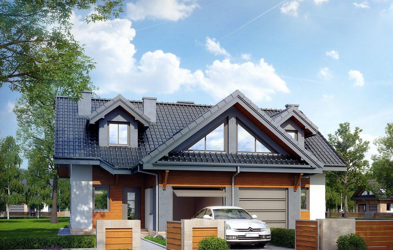 Casa duplex cu mansarda si garaj pentru o masina – 100558