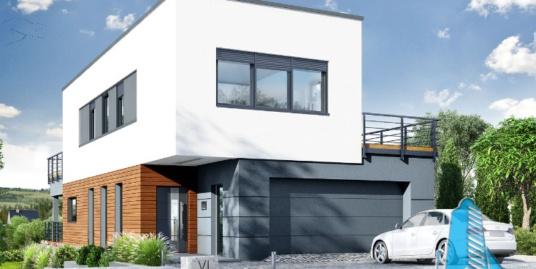 Proiectul de Casa de locuit cu parter, etaj si garaj pentru doua automobile – 100662