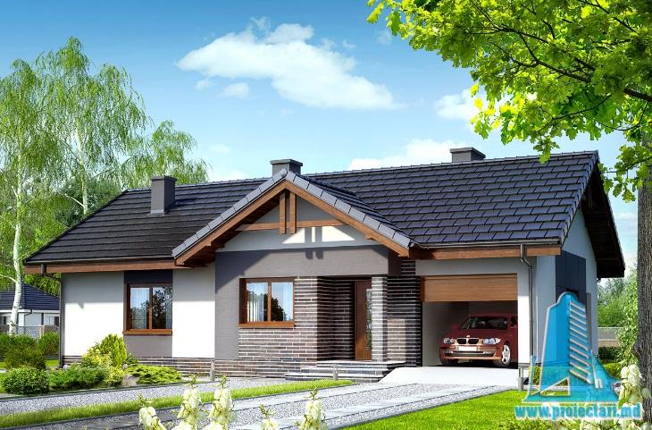 Proiect de casa cu parter si garaj pentru un automobil-100651