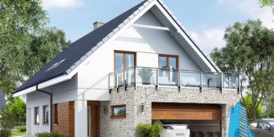 Proiect de Casa cu parter, mansarda si garaj pentru doua automobile – 100707