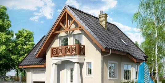 Proiect de casa cu parter, mansarda si garaj pentru un automobil-100668