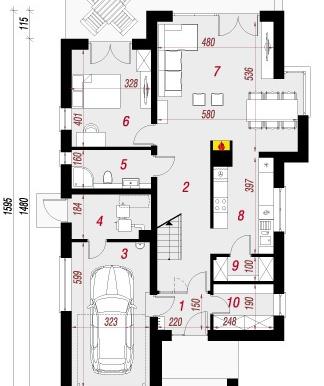 proekt-doma-s-parterom-mansardoj-i-garazhom-dlya-odnogo-avtomobilya-parter