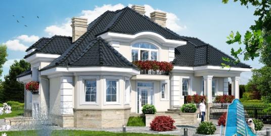 Proiect de casa cu parter, mansarda, demisol si garaj pentru un automobil-100649