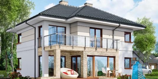Proiect de casa cu parter, etaj si garaj pentru doua automobile-100634