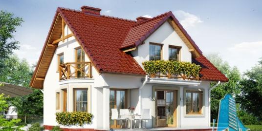 Proiect de casa cu parter, mansarda -100638