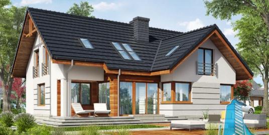 Proiect de casa cu parter, mansarda si garaj pentru doua automobile-100640