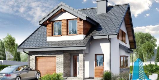 Proiect de casa cu parter, mansarda si garaj pentru un automobil-100630
