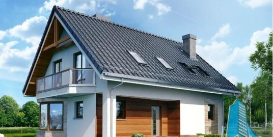 Proiect de casa cu parter, mansarda -100631