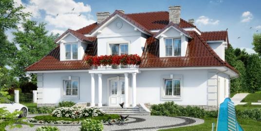 Proiect de casa cu parter si mansarda -100680