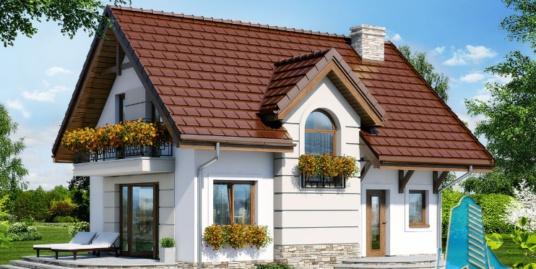 Proiect de casa cu parter si mansarda -100720